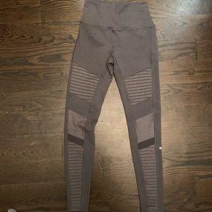 All high waisted moto leggings in grey